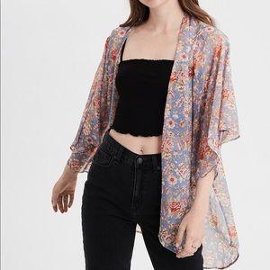 American Eagle floral chiffon kimono